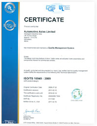 Certifacate ISO/TS 16949 : 2009
